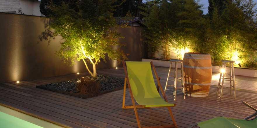 Luminaires du jardin